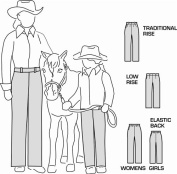 Suitability 2250 Womens & Girls Western Showmanship Show Pants Equestrian Sewing Pattern