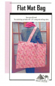Flat Mat Bag Pattern, Carries Up to 46cm by 60cm Cutting Mat, Great For Classes, etc.