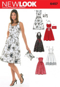 New Look Sewing Pattern 6457 Misses Dresses, Size A