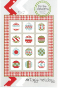 Vintage Holiday Christmas Quilt Pattern, 140cm by 170cm Finished Size