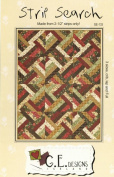 Strip Search Quilt Pattern, Jelly Roll 6.4cm Strip Friendly, 3 Finished Sizes Options