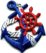 Anchor Tattoo Navy Biker Retro Ship Boat Sea Sew Applique Iron-on Patch S-398 Cute Gift to Your Cloth.