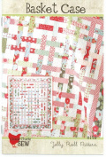 Basket Case Quilt Pattern, Jelly Roll 6.4cm Strip Set Friendly, 150cm by 180cm Finished Size