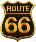 Route 66 Retro Muscle Cars 60s Americana USA Applique Iron-on Patch New S-503 Cute Gift to Your Cloth.
