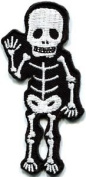 Skull Skeleton Goth Horror Applique Iron-on Patch S-267 Cute Gift to Your Cloth.