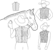 Suitability 4055 Womens & Girls Back Zipper Lace Show Vest Equestrian Sewing Pattern