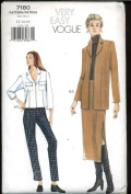 Vogue Very Easy Sewing Pattern 7180 - Misses' Jacket, Skirt & Pants
