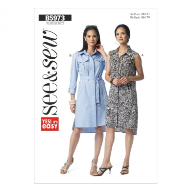Butterick Patterns B5973 Misses' Dress Sewing Template, Size A