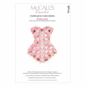 McCall's Creates W10622 Paper Quilt Creations Craft Pattern, Pretty Corset Quilt Picture