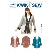 Kwik Sew K3640 Jackets Sewing Pattern, Size 1X-2X-3X-4X