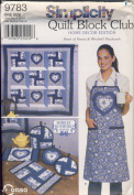 Simplicity Sewing Pattern 9783 - Quilt Block Club - Use to Make - Heart of Hearts and Windmill Patchwork