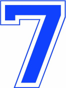 Iron-On 20cm Jersey Number Pack w/15 Numbers in Royal
