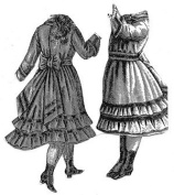 1876 Dress for Girl 7-9 Years Pattern