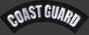 COAST GUARD BACK ROCKER Embroidered NEW Biker Patch!!!!