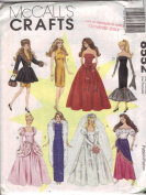 McCall's Crafts Sewing Pattern 8552 Fashion Doll Clothes for 28cm - 1.3cm Doll