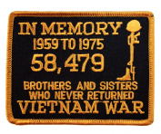 Vietnam In Memory of Brothers and Sisters Who Never Returned Clothing or Gear Iron on Patch D9