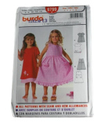 Burda 9799 Pattern Child's Dress Sizes 2,3,4,5,6