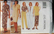 Butterick 4938 Sewing Pattern ~ Easy Misses' J. G. Hook Jacket, Top, Skirt, Pants, Separates, Sizes 6-8-10