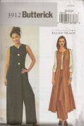 Butterick B3912, Misses' Coat and Pants, Size 8-12, OOP