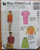 McCall's 5821 Sewing Pattern ~ Busy Woman's By Nancy Zieman Misses' Dress, Top, Skirt, Pants, Shorts, Size Small 10-12
