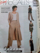 McCall's 7177 Misses' Dress in 2 Lengths, Unlined Vest & Pull-on Pants, Size E