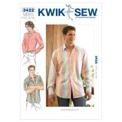 Kwik Sew K3422 Shirts Sewing Pattern, Size S-M-L-XL-XXL