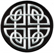 Celtic Knot Irish Goth Biker Tattoo Wicca Magic Applique Iron-on Patch New S-599 Handmade Design From Thailand