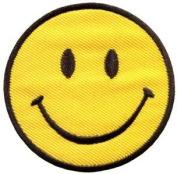 Smiley Face Retro Boho Hippie 70s Fun Smile Applique Iron-on Patch New S-716 Handmade Design From Thailand