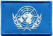 United Nations Un Flag Sew Sewing Applique Iron-on Patch New Medium S-766 Handmade Design From Thailand