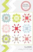 Swoon Quilt Pattern, Fat Quarter Friendly, 60cm Blocks, 200cm Square Finished Size