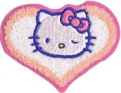 Sanrio Hello Kitty Iron On Patch - Cat In Heart Applique