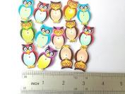 100pcs Mixed Wooden Buttons in Bulk Buttons for Crafts Button Owls Buttons Bu-88