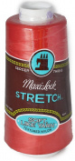 A & E Maxi Lock Stretch Textured Nylon Artillery Red Serger Thread MWN-32326