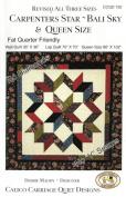 Carpenter's Star-Bali Sky Quilt Pattern, Fat Quarter Friendly, 3 Size Options