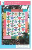 Gracie's Garden Quilt Pattern, Fat Quarter Friendly, 150cm by 180cm Finished Size