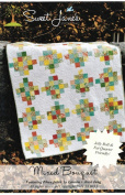 Mixed Bouquet Quilt Pattern, Jelly Roll 6.4cm Strip and Fat Quarter Friendly, 5 Sizes Options