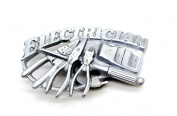Electrician Cut Out Pewter Belt Buckle