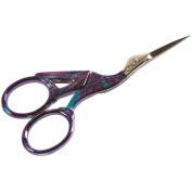 Stork Scissors, 7.6cm - 1.3cm , Stained Glass