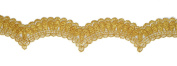 Metallic GOLD Lace Trim, Crafts and Sewing, 5.1cm by 1 Yard, LP-1198