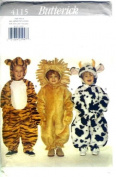 Butterick Sewing Pattern 4115 Toddler Costumes - Tiger, Lion & Cow,