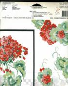 Daisy Kingdom Geranium Flower No Sew Applique # 6394