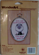 I'm Not Over Weight Sheep Counted Cross Stitch Complete Kit by WonderArt