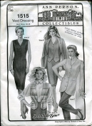 Stretch & Sew Sewing Pattern 1515 ~ Vest Dressing ~ Bust Sizes 30-46