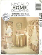 McCall's Home Decorating Bathroom Essentials ; Sewing Pattern 2721