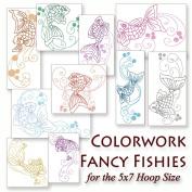 Colorwork Fancy Fishies Embroidery Machine Aquatic Fish Designs on CD - Multiformat