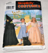 Simplicity Costumes Sewing Pattern 7801 - The Wizard of Oz - Dorothy, Good Witch & Wicked Witch Child's Costume - Size A