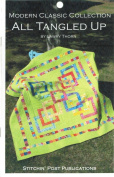 All Tangled Up Quilt Pattern, Jelly Roll 6.4cm Strip Friendly, 180cm Square Finished Size