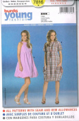 Burda Young Fashion Dress Sewing Pattern 19850cm Sizes 6 - 18
