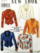 OOP New Look Pattern 6555. Misses Szs 8;10;12;14;16;18 Button Blouses/Tops. 5 Blouse Variations