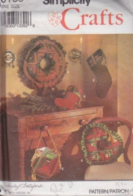 Simplicity 8159 - Patchwork Christmas Decorations Sewing Patterns